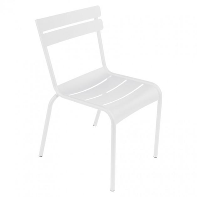 На фото: Стілець Luxembourg 4101 Cotton White (410101), Стілець Luxembourg Fermob, каталог, ціна