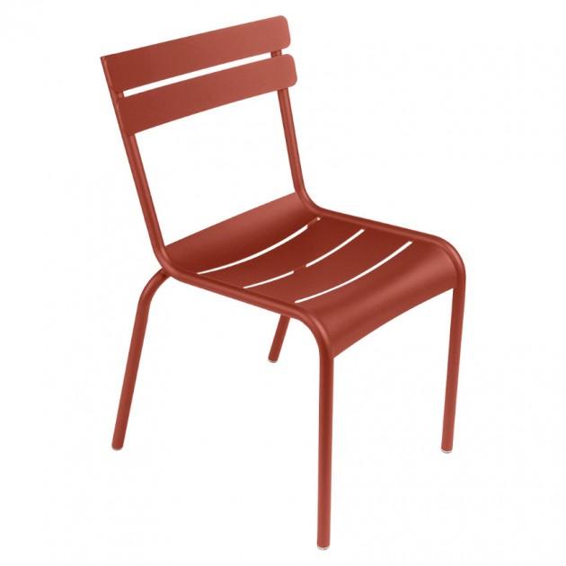 На фото: Стілець Luxembourg 4101 Red Ochre (410120), Металеві стільці Fermob, каталог, ціна