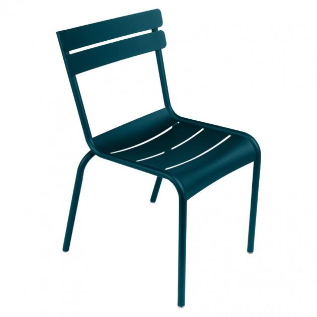 На фото: Стілець Luxembourg 4101 Acapulco Blue (410121), Металеві стільці Fermob, каталог, ціна