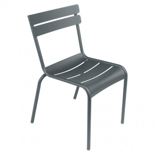На фото: Стілець Luxembourg 4101 Storm Grey (410126), Металеві стільці Fermob, каталог, ціна