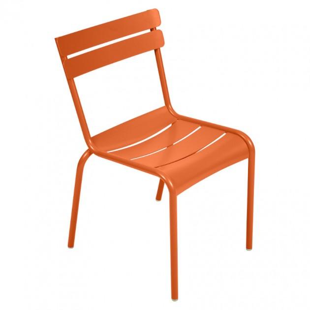 На фото: Стілець Luxembourg 4101 Carrot (410127), Металеві стільці Fermob, каталог, ціна