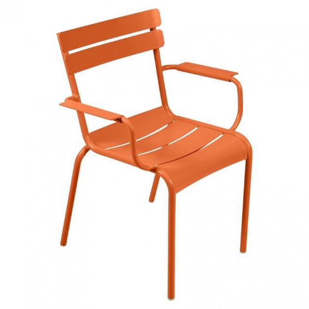 На фото: Стілець Luxembourg 4102 Carrot (410227), Металеві стільці Fermob, каталог, ціна