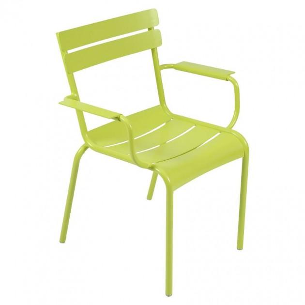 На фото: Стілець Luxembourg 4102 Verbena (410229), Металеві стільці Fermob, каталог, ціна