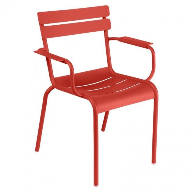 На фото: Стілець Luxembourg 4102 Capucine (410245), Металеві стільці Fermob, каталог, ціна