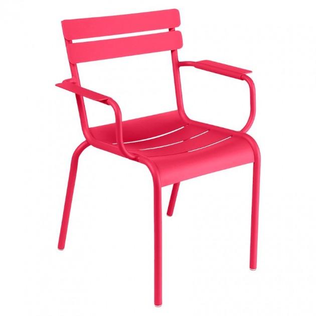 На фото: Стілець Luxembourg 4102 Pink Praline (410293), Металеві стільці Fermob, каталог, ціна