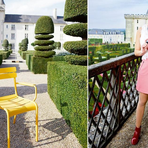 На фото: Стілець Luxembourg 4102 Red Ochre (410220), Металеві стільці Fermob, каталог, ціна