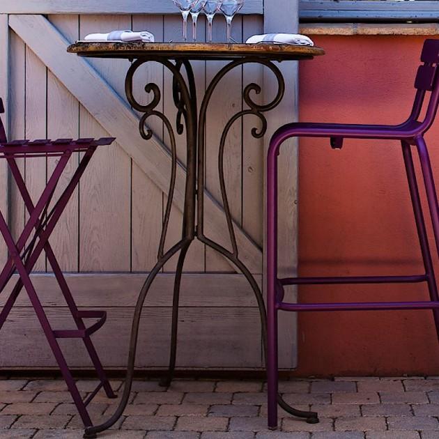 На фото: Барний стілець Luxembourg 4103 Deep Blue (410392), Барний стілець Luxembourg Fermob, каталог, ціна