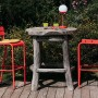 На фото: Барний стілець Luxembourg 4103 Aubergine (410328), Барний стілець Luxembourg Fermob, каталог, ціна
