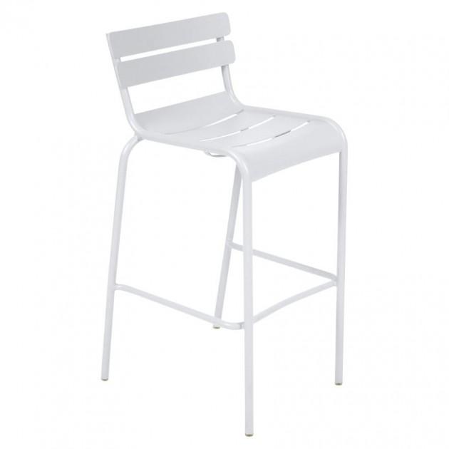 На фото: Барний стілець Luxembourg 4103 Cotton White (410301), Барні стільці Fermob, каталог, ціна