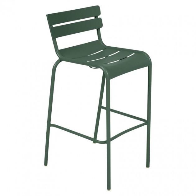 На фото: Барний стілець Luxembourg 4103 Cedar Green (410302), Барні стільці Fermob, каталог, ціна