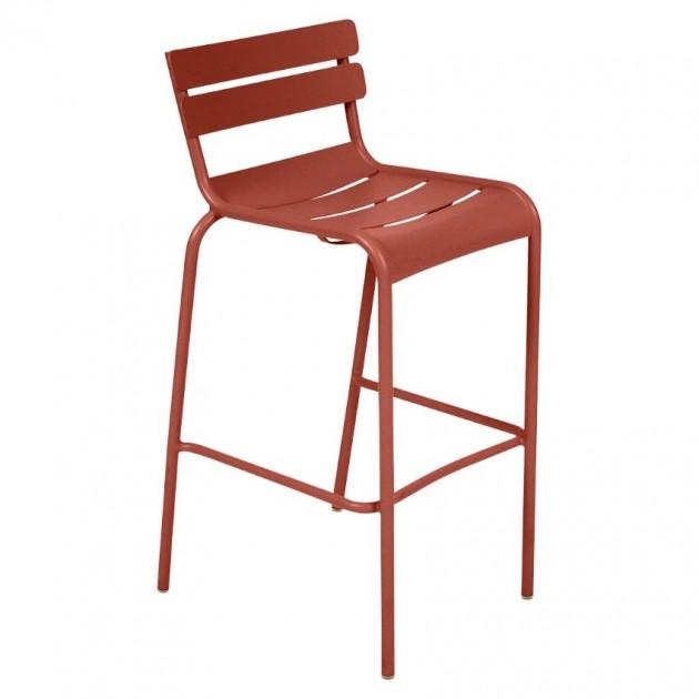 На фото: Барний стілець Luxembourg 4103 Red Ochre (410320), Барний стілець Luxembourg Fermob, каталог, ціна