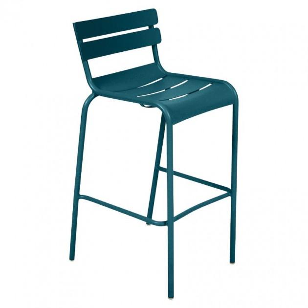 На фото: Барний стілець Luxembourg 4103 Acapulco Blue (410321), Барний стілець Luxembourg Fermob, каталог, ціна