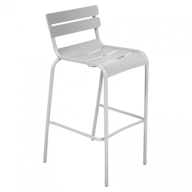 На фото: Барний стілець Luxembourg 4103 Steel Grey (410338), Барний стілець Luxembourg Fermob, каталог, ціна