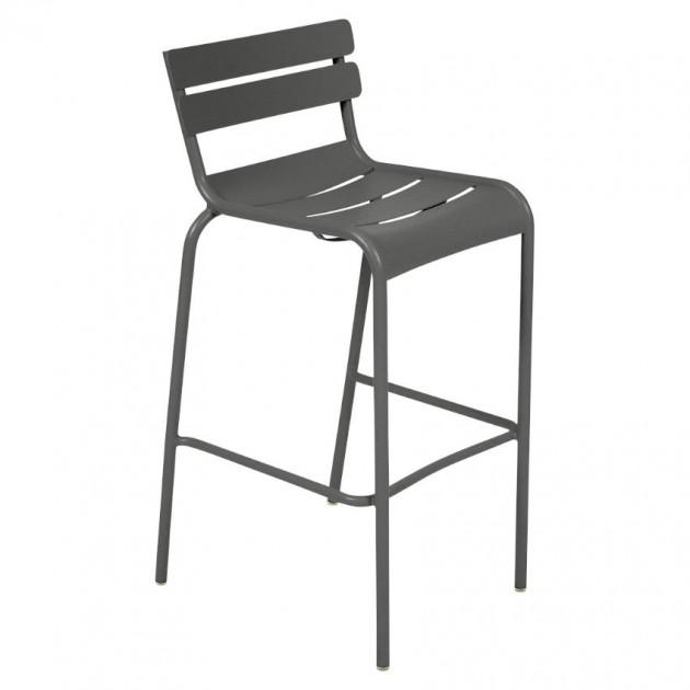На фото: Барний стілець Luxembourg 4103 Anthracite (410347), Барний стілець Luxembourg Fermob, каталог, ціна