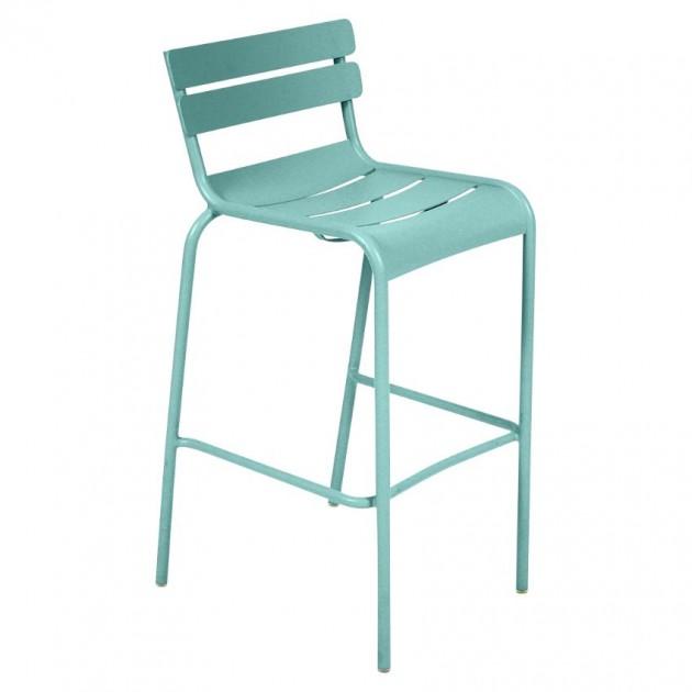 На фото: Барний стілець Luxembourg 4103 Lagoon Blue (410346), Барний стілець Luxembourg Fermob, каталог, ціна
