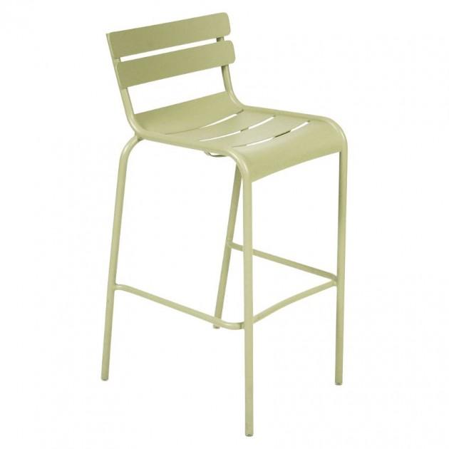 На фото: Барний стілець Luxembourg 4103 Willow Green (410365), Барний стілець Luxembourg Fermob, каталог, ціна
