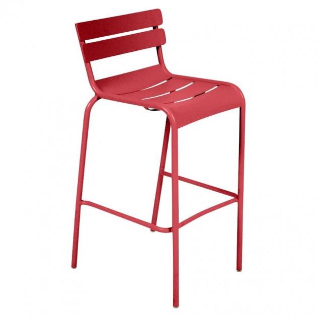 На фото: Барний стілець Luxembourg 4103 Poppy (410367), Барний стілець Luxembourg Fermob, каталог, ціна