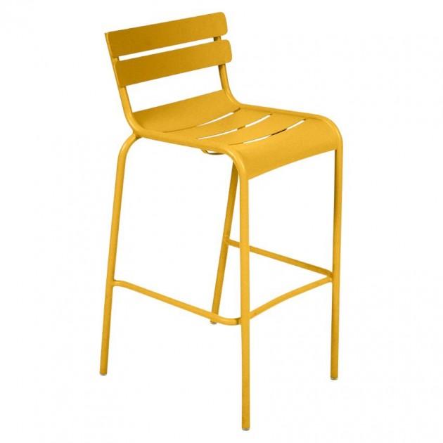 На фото: Барний стілець Luxembourg 4103 Honey (410373), Барний стілець Luxembourg Fermob, каталог, ціна