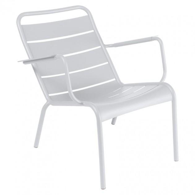 На фото: Крісло Luxembourg 4104 Cotton White (410401), Крісло Luxembourg Fermob, каталог, ціна