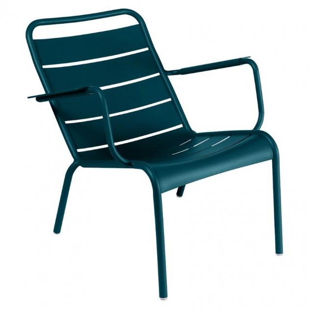 На фото: Крісло Luxembourg 4104 Acapulco Blue (410421), Крісло Luxembourg Fermob, каталог, ціна
