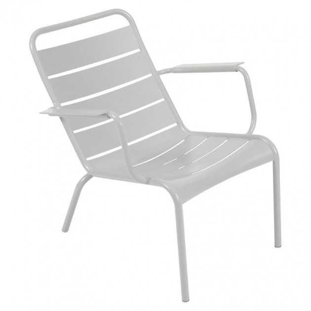 На фото: Крісло Luxembourg 4104 Steel Grey (410438), Крісло Luxembourg Fermob, каталог, ціна
