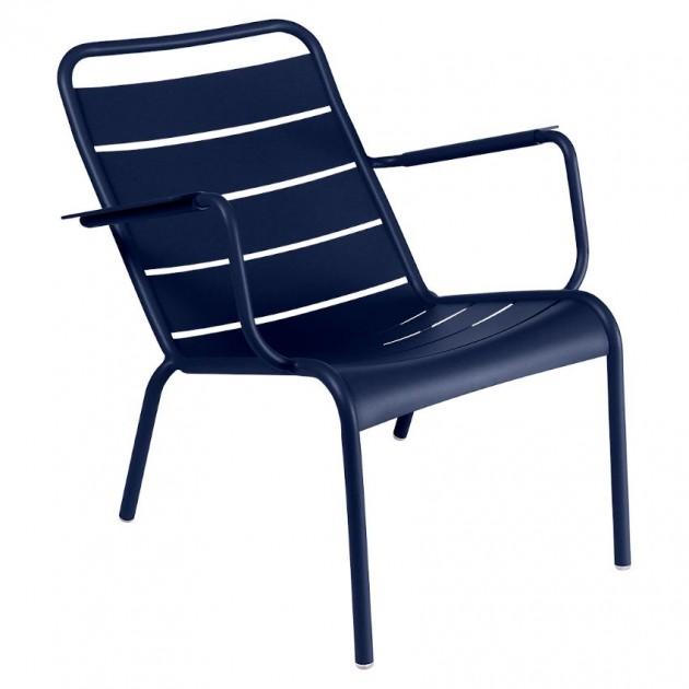 На фото: Крісло Luxembourg 4104 Deep Blue (410492), Крісло Luxembourg Fermob, каталог, ціна