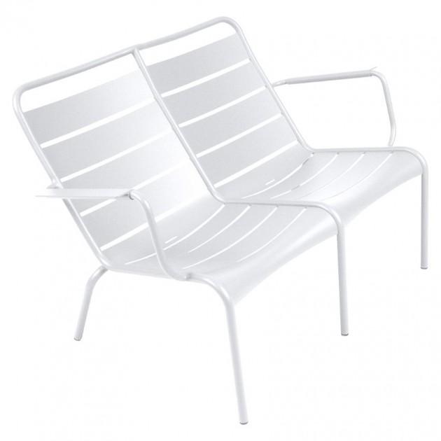 На фото: Подвійне крісло Luxembourg Duo 4105 Cotton White (410501), Подвійне крісло Luxembourg Fermob, каталог, ціна