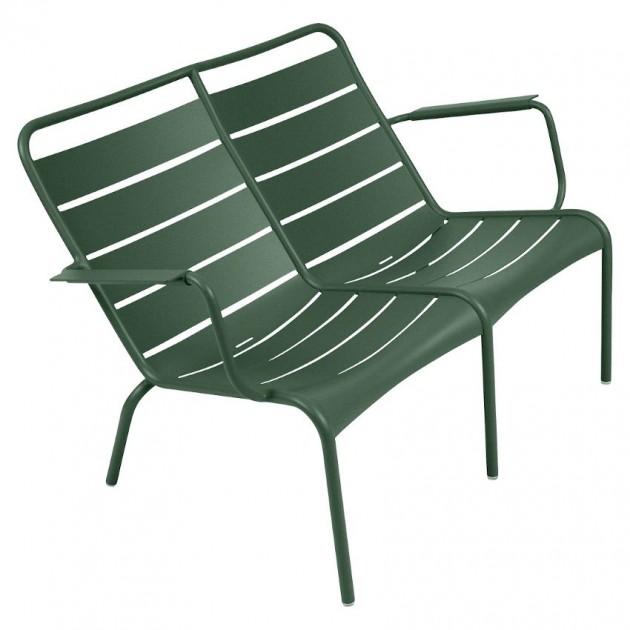 На фото: Подвійне крісло Luxembourg Duo 4105 Cedar Green (410502), Подвійне крісло Luxembourg Fermob, каталог, ціна