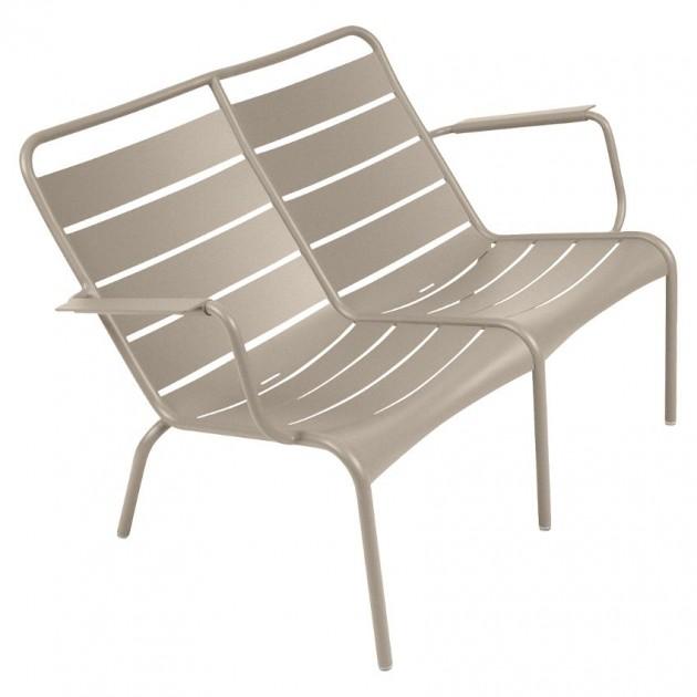 На фото: Подвійне крісло Luxembourg Duo 4105 Nutmeg (410514), Подвійне крісло Luxembourg Fermob, каталог, ціна