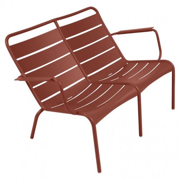 На фото: Подвійне крісло Luxembourg Duo 4105 Red Ochre (410520), Подвійне крісло Luxembourg Fermob, каталог, ціна
