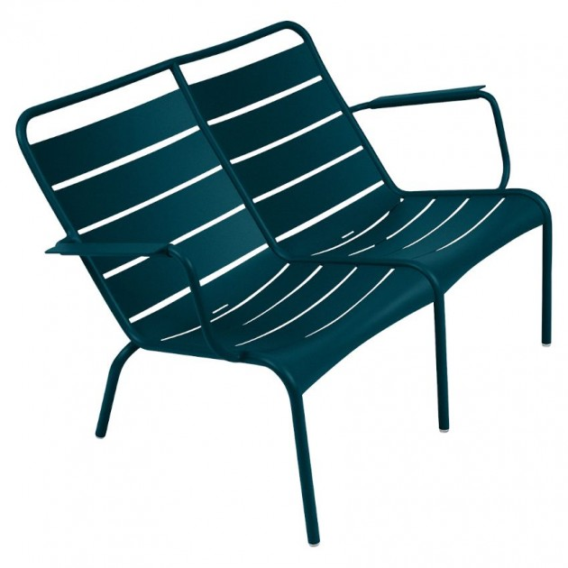 На фото: Подвійне крісло Luxembourg Duo 4105 Acapulco Blue (410521), Подвійне крісло Luxembourg Fermob, каталог, ціна