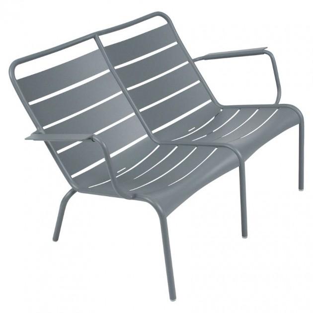 На фото: Подвійне крісло Luxembourg Duo 4105 Storm Grey (410526), Подвійне крісло Luxembourg Fermob, каталог, ціна