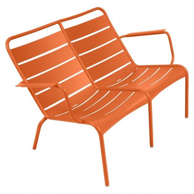На фото: Подвійне крісло Luxembourg Duo 4105 Carrot (410527), Подвійне крісло Luxembourg Fermob, каталог, ціна