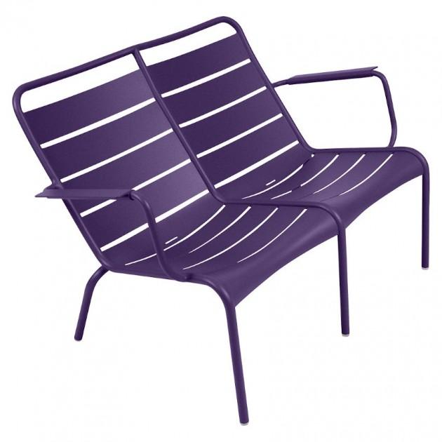 На фото: Подвійне крісло Luxembourg Duo 4105 Aubergine (410528), Подвійне крісло Luxembourg Fermob, каталог, ціна