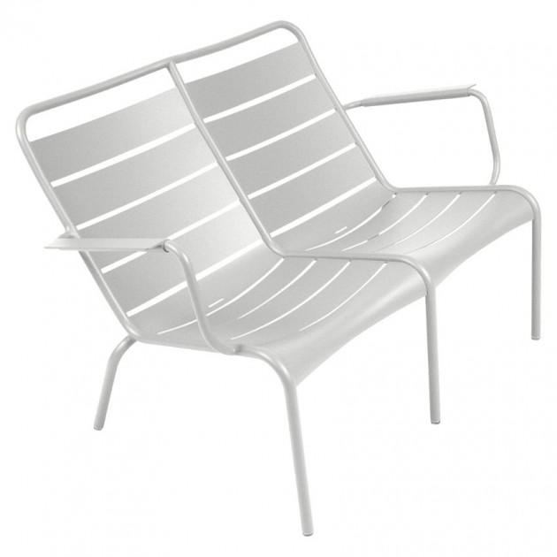 На фото: Подвійне крісло Luxembourg Duo 4105 Steel Grey (410538), Подвійне крісло Luxembourg Fermob, каталог, ціна