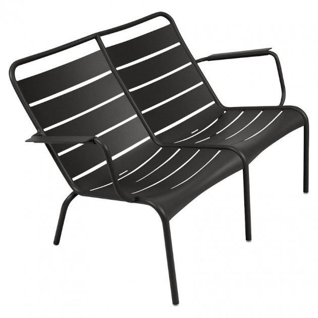 На фото: Подвійне крісло Luxembourg Duo 4105 Liquorice (410542), Подвійне крісло Luxembourg Fermob, каталог, ціна