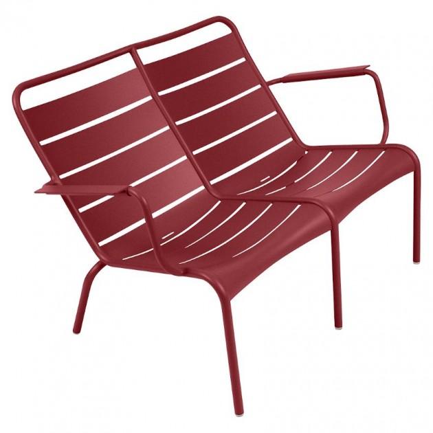 На фото: Подвійне крісло Luxembourg Duo 4105 Chili (410543), Подвійне крісло Luxembourg Fermob, каталог, ціна