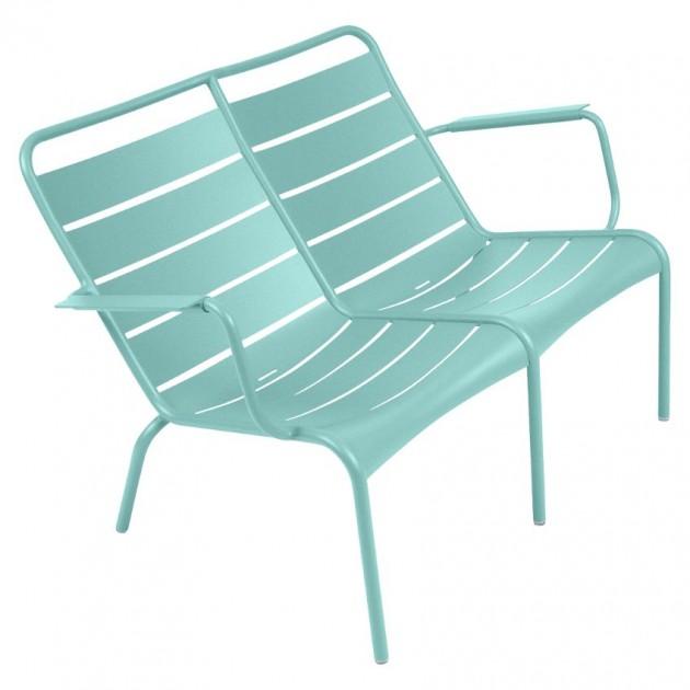 На фото: Подвійне крісло Luxembourg Duo 4105 Lagoon Blue (410546), Подвійне крісло Luxembourg Fermob, каталог, ціна