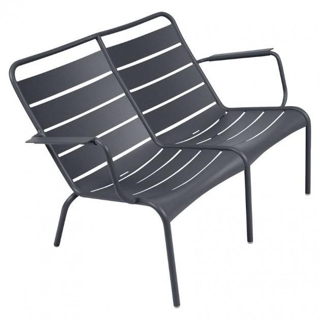 На фото: Подвійне крісло Luxembourg Duo 4105 Anthracite (410547), Подвійне крісло Luxembourg Fermob, каталог, ціна