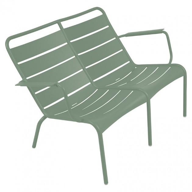 На фото: Подвійне крісло Luxembourg Duo 4105 Cactus (410582), Металеві лавки Fermob, каталог, ціна