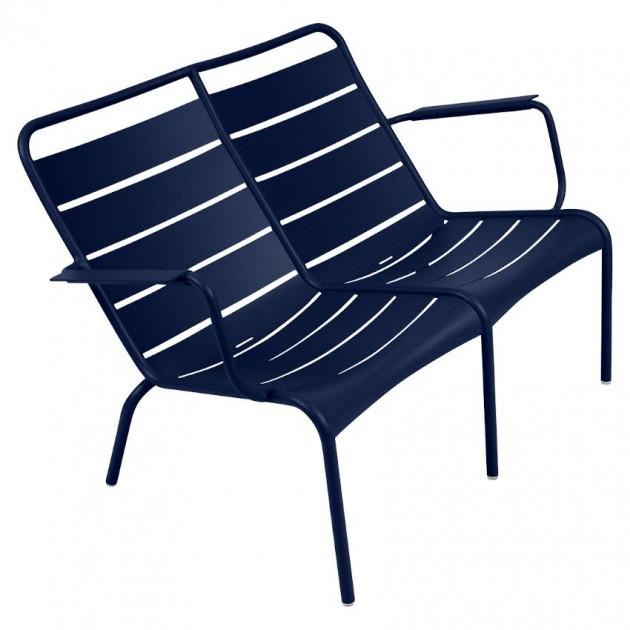 На фото: Подвійне крісло Luxembourg Duo 4105 Deep Blue (410592), Подвійне крісло Luxembourg Fermob, каталог, ціна