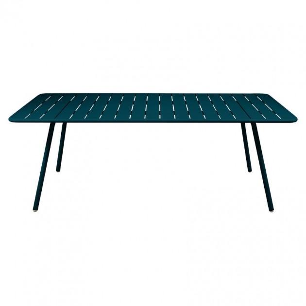 На фото: Обідній стіл Luxembourg 4132 Acapulco Blue (413221), Стіл Luxembourg 207x100 Fermob, каталог, ціна