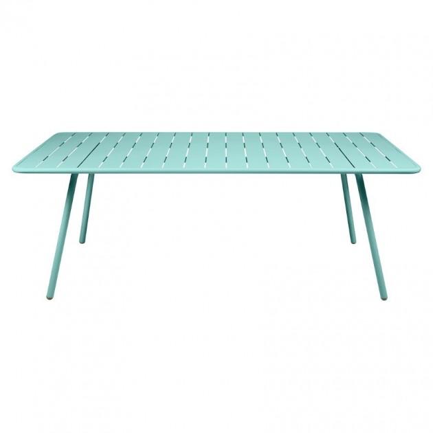 На фото: Обідній стіл Luxembourg 4132 Lagoon Blue (413246), Стіл Luxembourg 207x100 Fermob, каталог, ціна