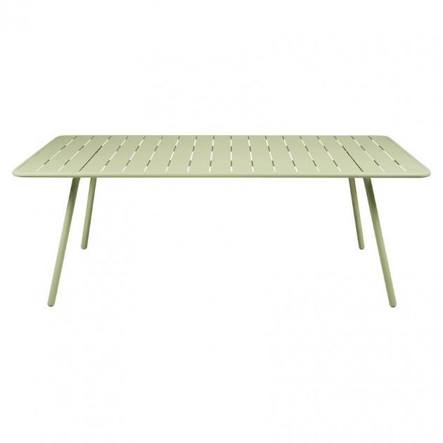 На фото: Обідній стіл Luxembourg 4132 Willow Green (413265), Стіл Luxembourg 207x100 Fermob, каталог, ціна