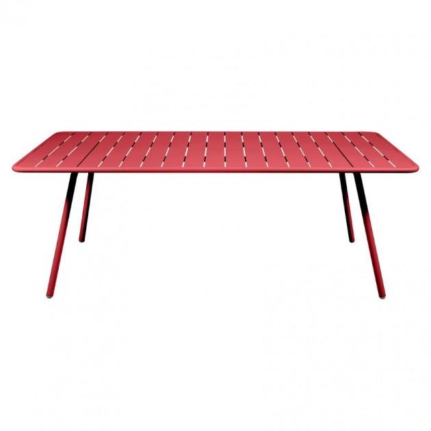 На фото: Обідній стіл Luxembourg 4132 Poppy (413267), Стіл Luxembourg 207x100 Fermob, каталог, ціна