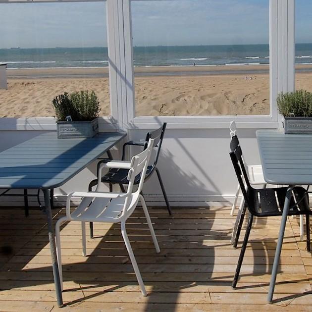 На фото: Обідній стіл Luxembourg 4133 Cedar Green (413302), Стіл Luxembourg 143x80 Fermob, каталог, ціна