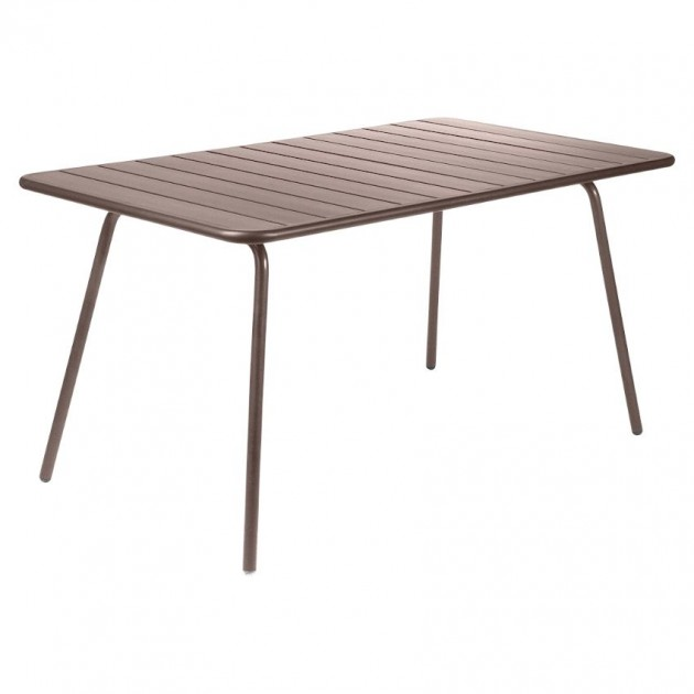 На фото: Обідній стіл Luxembourg 4133 Russet (413309), Стіл Luxembourg 143x80 Fermob, каталог, ціна