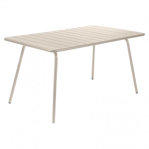 На фото: Обідній стіл Luxembourg 4133 Nutmeg (413314), Стіл Luxembourg 143x80 Fermob, каталог, ціна