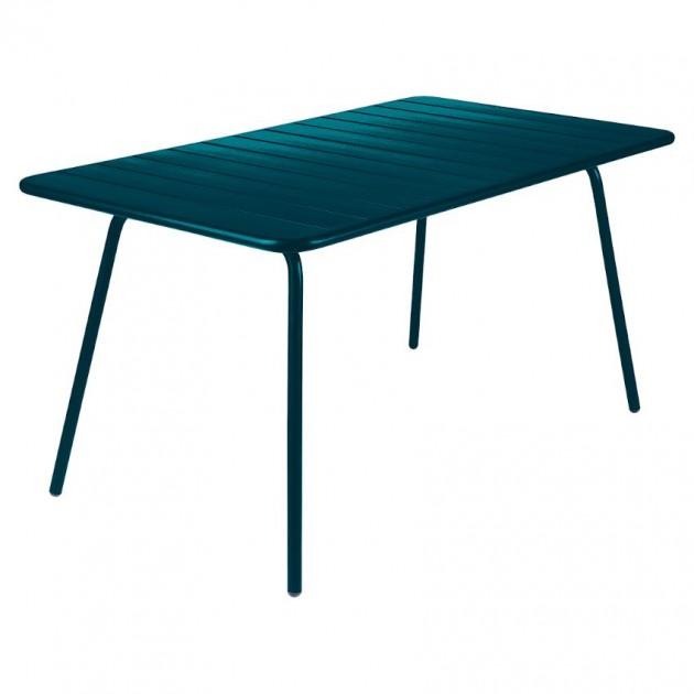 На фото: Обідній стіл Luxembourg 4133 Acapulco Blue (413321), Стіл Luxembourg 143x80 Fermob, каталог, ціна