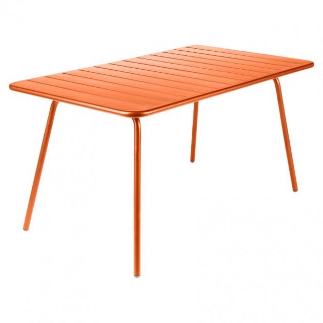 На фото: Обідній стіл Luxembourg 4133 Carrot (413327), Стіл Luxembourg 143x80 Fermob, каталог, ціна
